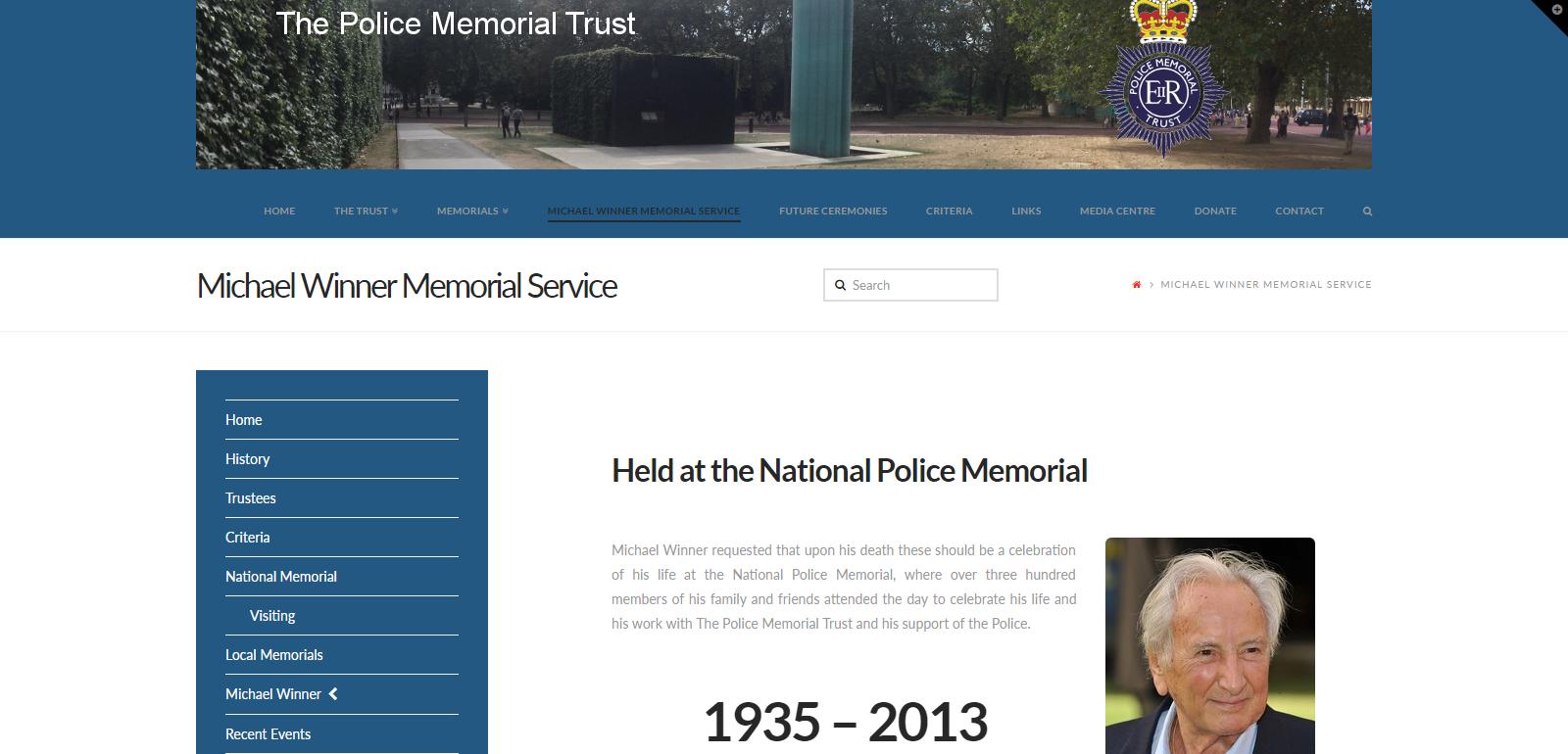 The Police Memorial Trust Website