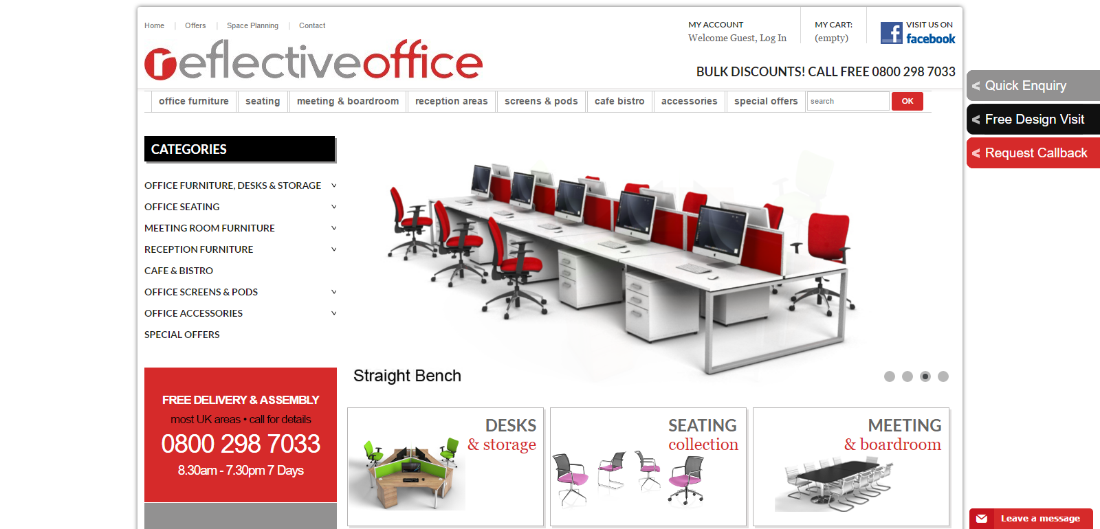 Reflective Office Website