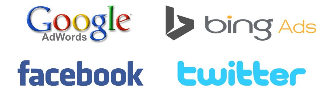 Google Bing Facebook Twitter Logos