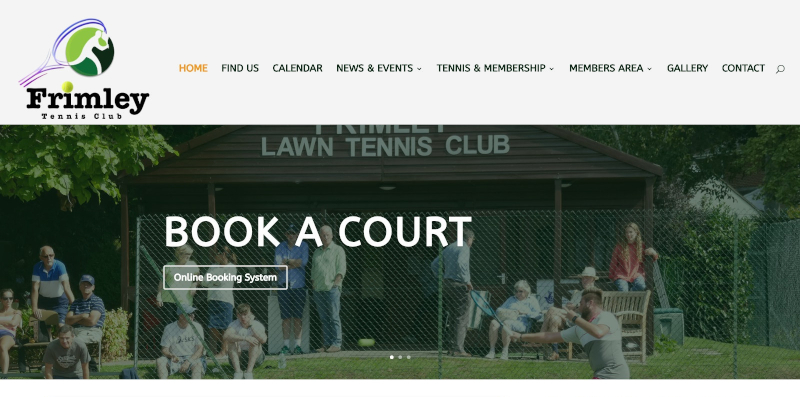 Frimley Tennis Club Website