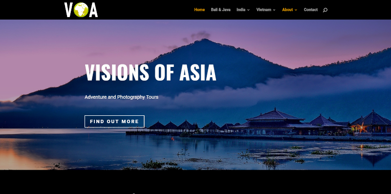 Visions of Asia Tours Website