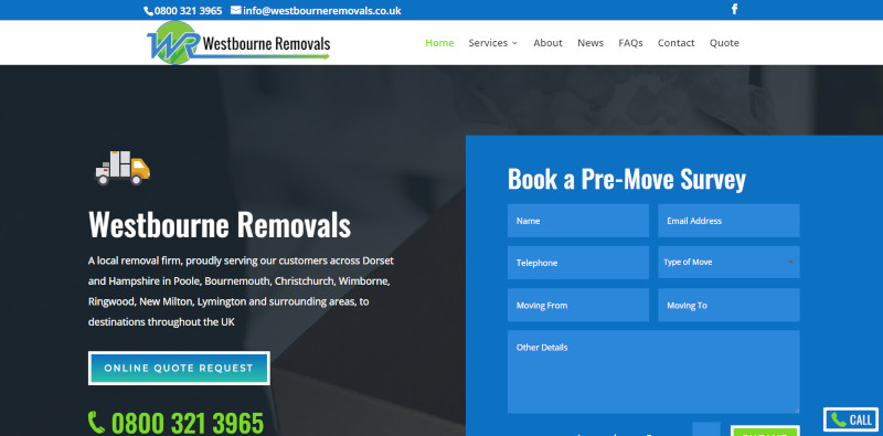 Westbourne Removals Website