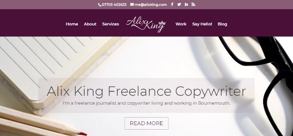 Alix King Freelance Copywriter